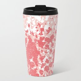 Abstract minimal pink and coral painting home decor abstract charlotte winter art Travel Mug