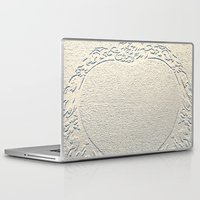 antique Laptop & iPad Skins featuring Antique Heart by Rose Etiennette
