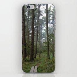 A Foggy Walk iPhone Skin