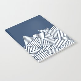 Abstract Mountain Navy Notebook