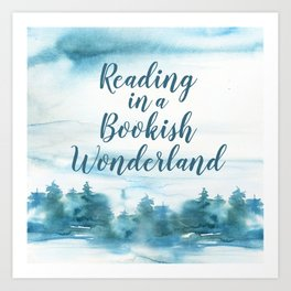 Bookish Wonderland Art Print