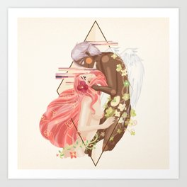 Cupid and Psyche Art Print
