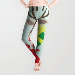 Santa Claus sends you Surprise gift with Mr Reindeer Leggings