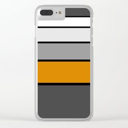 GREYSCALE STRIPES Clear iPhone Case