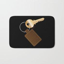 Leather Key Fob With Key Bath Mat