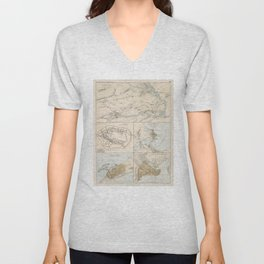 Ancient Cities of The Mediterranean and Middle East (1874) Unisex V-Neck