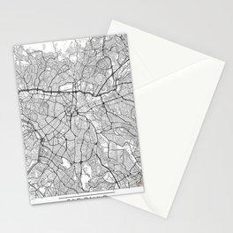 Sao Paulo Map White Stationery Cards