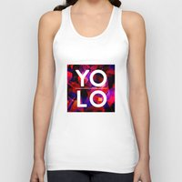sayings Tank Tops featuring Dreams of YOLO Vol.2 by HappyMelvin