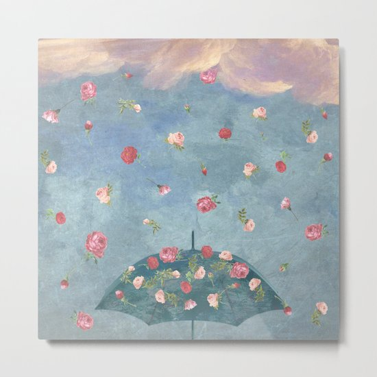 I Wished for a Rose Rain for You Metal Print