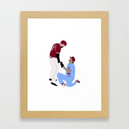 Nick Castellanos vs The Dirty Birs Great Gift Idea Framed Art Print