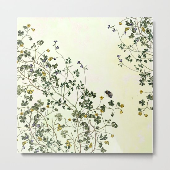 The cultivation of wild Metal Print