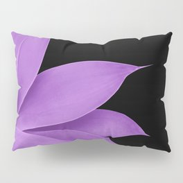 Agave Finesse #10 - Purple on Black #tropical #decor #art #society6 Pillow Sham