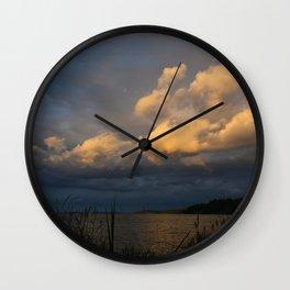 Sunset Coast Sweden Wall Clock