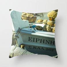 Sponge Boat Throw Pillow