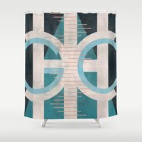 chicago Shower Curtains featuring Chicago by Katrina Berlin Design