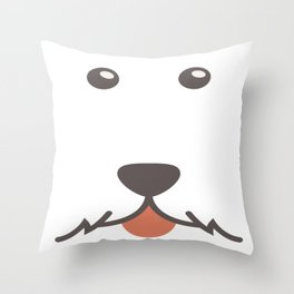 Dog Emoji Airedale Throw Pillow