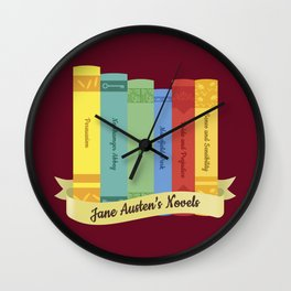 Jane Austen's Novels IV Wall Clock