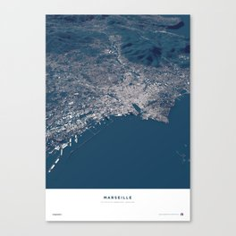 Marseille - City Map Canvas Print