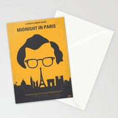 No312 My Midnight in Paris minimal movie poster Stationery Cards