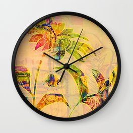 Sungold Sunflower Wall Clock