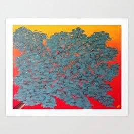Turquoise tree Art Print