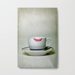 lip marks Metal Print