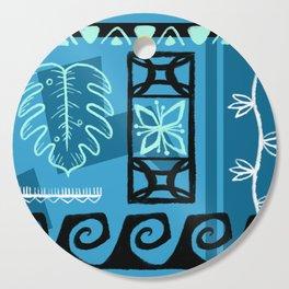 Hawaiian Pattern #1 - aqua! Cutting Board