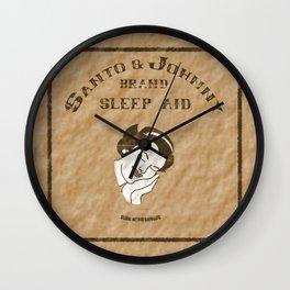 Santo & Johnny Brand Sleep Aid Wall Clock