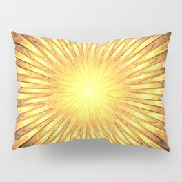 Rays of GOLD SUN abstracts Pillow Sham