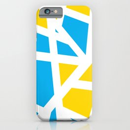 Abstract Interstate  Roadways Aqua Blue & Yellow Color iPhone Case