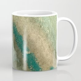 Green Thumb - an abstract mixed media piece in greens and blues Coffee Mug