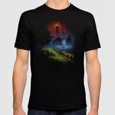 Over The Hill - The Lord Of The Rings Mens Fitted Tee LARGE Black