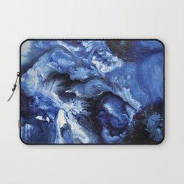 Swirling Blue Waters II - Painting Laptop Sleeve