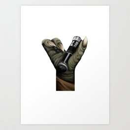 Geek letter Y Art Print