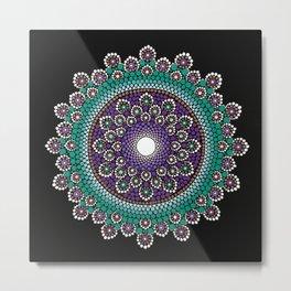 Purple and Teal Mandala Metal Print