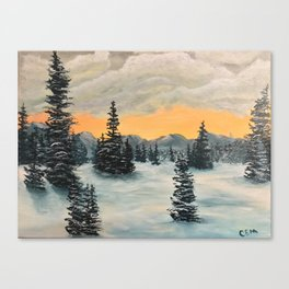 Foothills Winter Canvas Print
