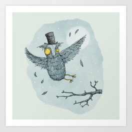 'Mr Owl' Art Print