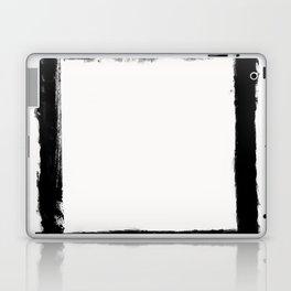 Square Strokes Black on White Laptop & iPad Skin