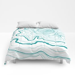 Tree Rings of Turquoise Comforters