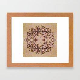 Mirrored Mandala Framed Art Print
