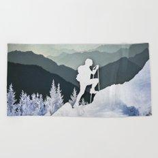 Winter Mountains Beach Towel