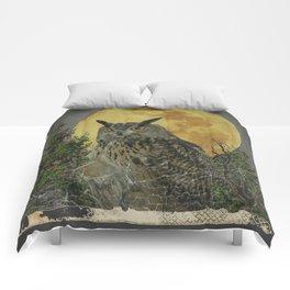 SHABBY CHIC ANTIQUE NIGHT OWL  FULL MOON Comforters
