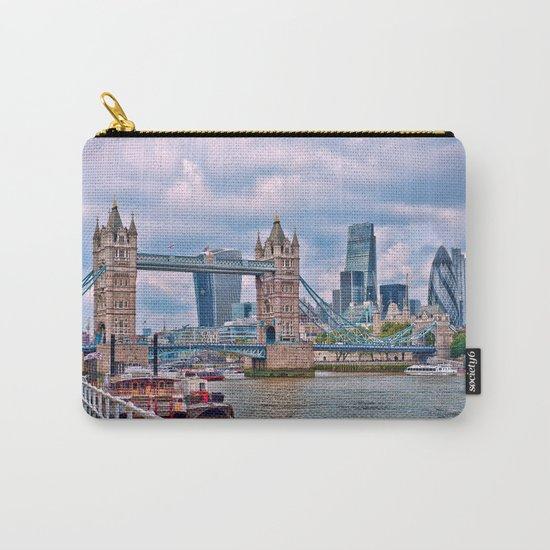 London Tower Bridge Blue Carry-All Pouch