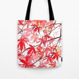 red orange maple leaves watercolor painting 2 Tote Bag