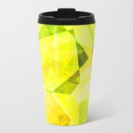 Pale Yellow Poinsettia 1 Abstract Polygons 1 Travel Mug