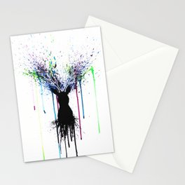 Colorful deer Stationery Cards