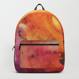 A leaf In The Wood Aflame Abstract Backpack