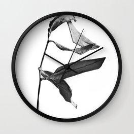 WABI SABI Dead Leaves. Wall Clock