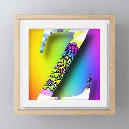 MONOGRAM INITIAL Z Framed Mini Art Print