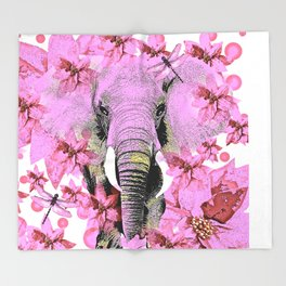 ELEPHANT PINK Throw Blanket